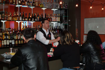 Learn behind an actual bar from our qualified instructors at the Professional Bartending School.