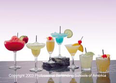 Learn how to professionally prepare over 125 drinks at the the Maryland Bartending Academy!