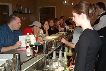 Learn behind an actual bar from our qualified instructors at the Bartenders Professional Training Institute of Buffalo, Rochester and Syracuse, New York!