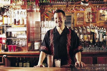 Lear behind an actual bar the Interantional Bartending School in Detroit, Michigan!
