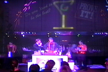 "Roger Oldham on stage at the 1994 Quest for the Best Bartender in North America "" contest held in Orlando, Florida."