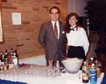 Randy Foley Director of Catering for Xavier University with Julie Garver - Professional Bartending School of Cincinnati Graduate